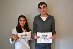 Melissa Khaira and Brian George