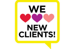We Love New Clients!