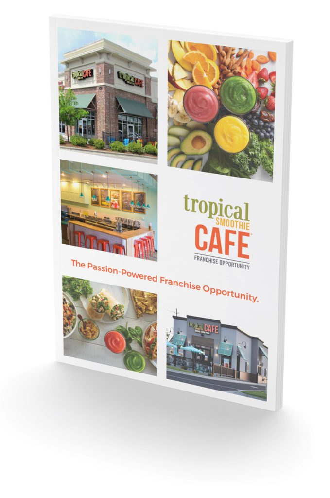 Tropical Smoothie Cafe 8-page brochure cover