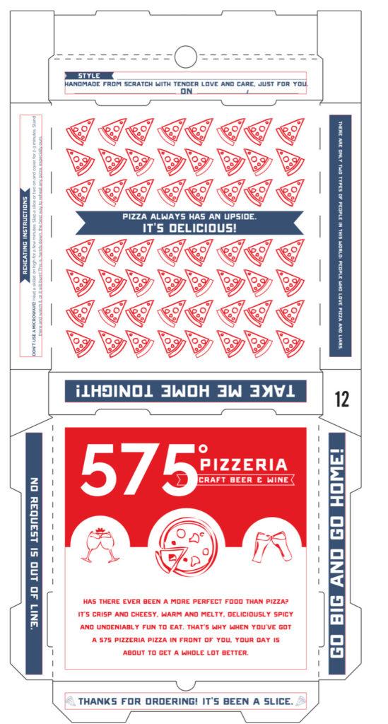 575 Pizzeria pizza box