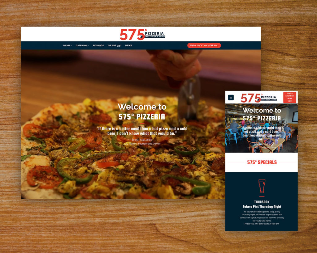 575 Pizzeria website