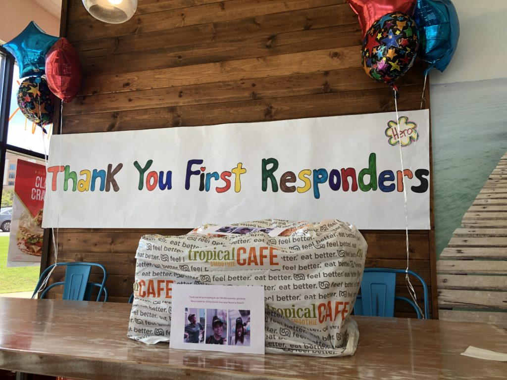 Thank You First Responders smoothie gift